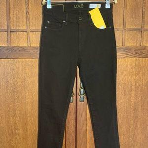 Lolë charcoal black skinny jeans.